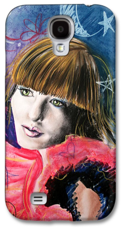 Portrait Galaxy S4 Case featuring the drawing Moonlight Glam by Maryn Crawford