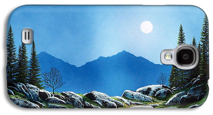 Landscape Galaxy S4 Case featuring the painting Moonlight Hike by Frank Wilson