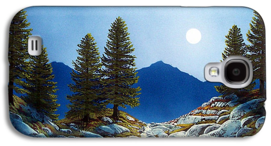 Landscape Galaxy S4 Case featuring the painting Moonlit Trail by Frank Wilson