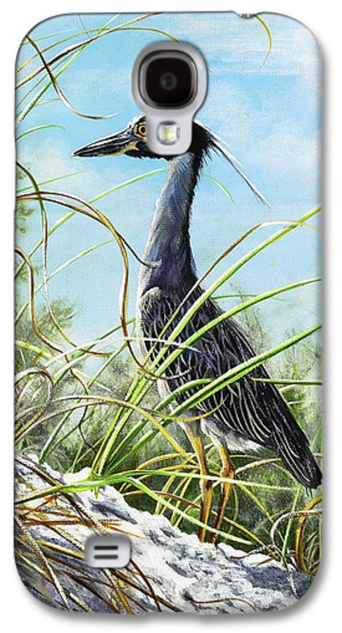 Bird Galaxy S4 Case featuring the painting Morning Hunt by Joan Garcia