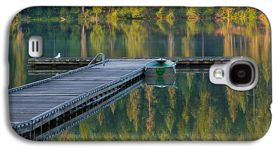 Dock Galaxy S4 Case featuring the photograph Morning Light by Idaho Scenic Images Linda Lantzy
