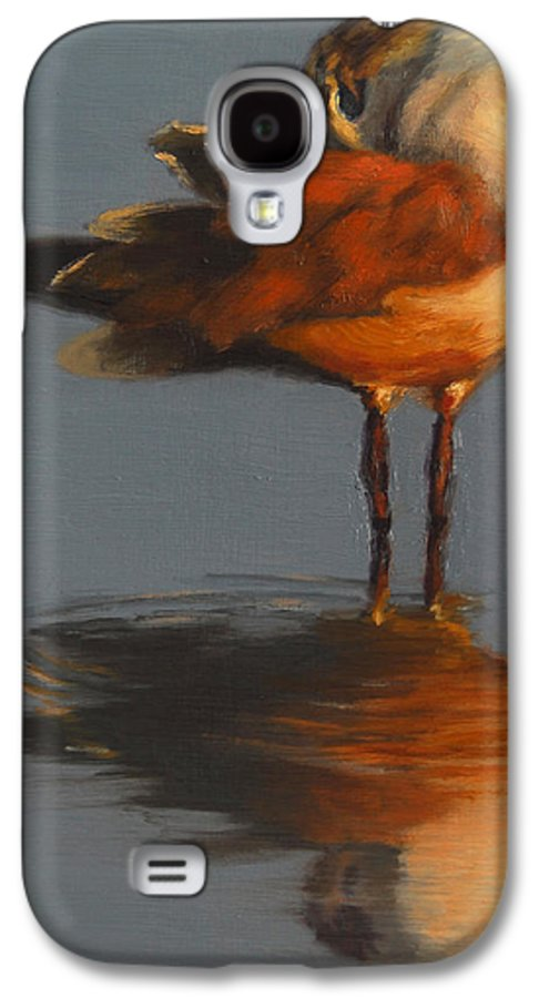 Bird Galaxy S4 Case featuring the painting Morning Reflection by Greg Neal