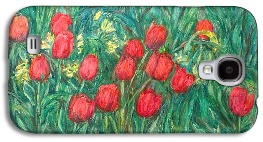 Kendall Kessler Galaxy S4 Case featuring the painting Mostly Tulips by Kendall Kessler
