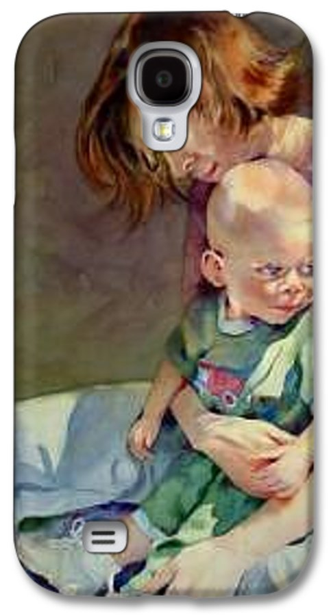 Mother And Child Galaxy S4 Case featuring the painting Mother Love by Marlene Gremillion
