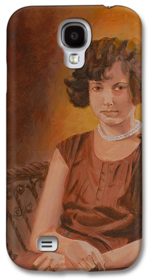 Woman Galaxy S4 Case featuring the painting Mother by Quwatha Valentine