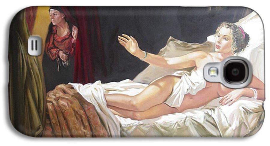 Ignatenko Galaxy S4 Case featuring the painting Motif Of Danae by Sergey Ignatenko