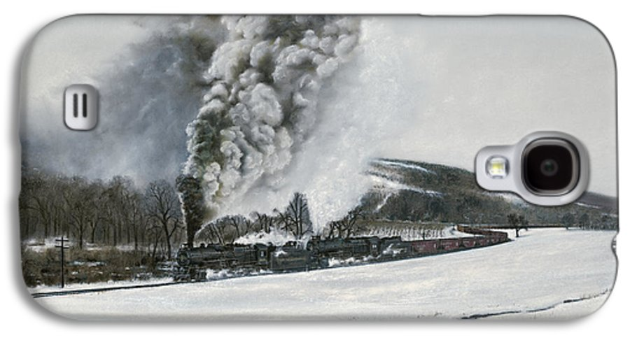 Trains Galaxy S4 Case featuring the painting Mount Carmel Eruption by David Mittner