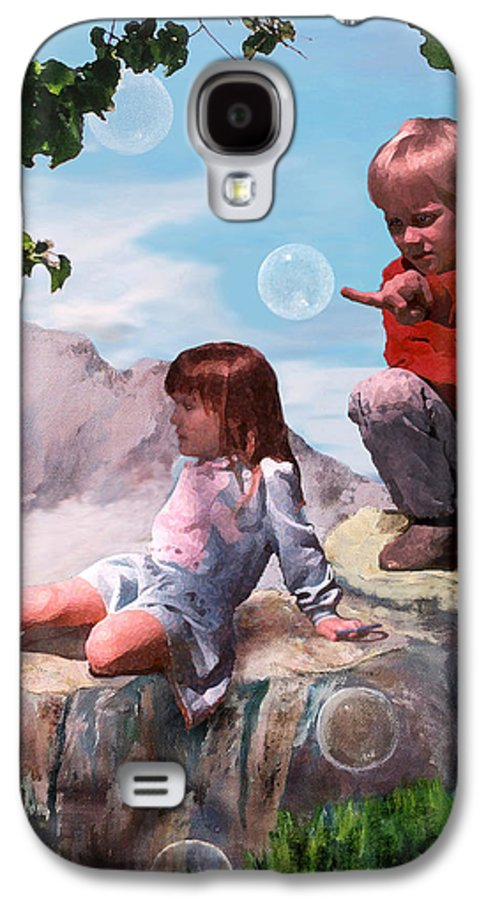 Landscape Galaxy S4 Case featuring the painting Mount Innocence by Steve Karol