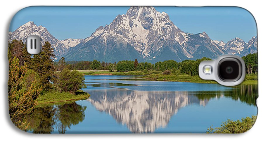 Mount Moran Galaxy S4 Case featuring the photograph Mount Moran On Snake River Landscape by Brian Harig