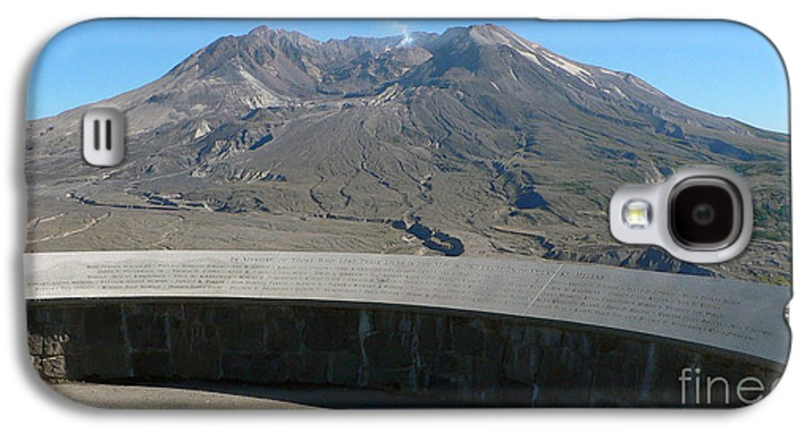 Volcano Galaxy S4 Case featuring the photograph Mount St. Helen Memorial by Larry Keahey