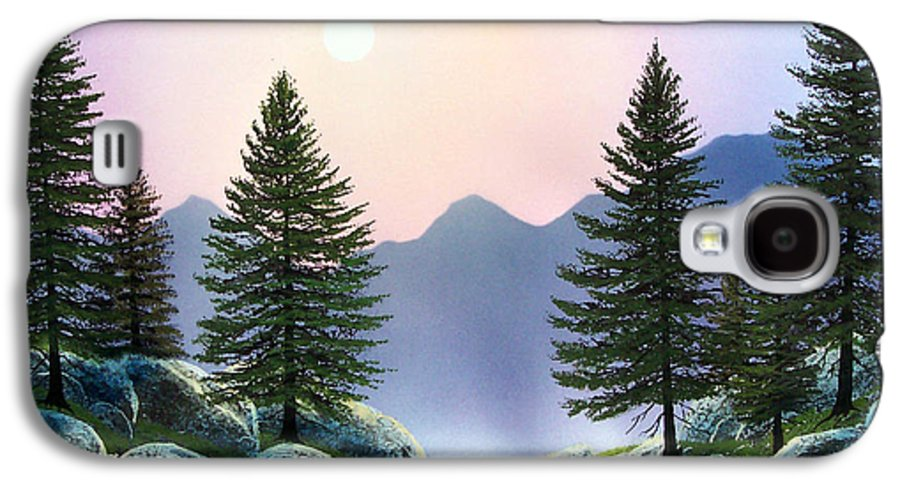 Landscape Galaxy S4 Case featuring the painting Mountain Firs by Frank Wilson
