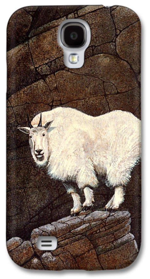 Wildlife Galaxy S4 Case featuring the painting Mountain Goat by Frank Wilson