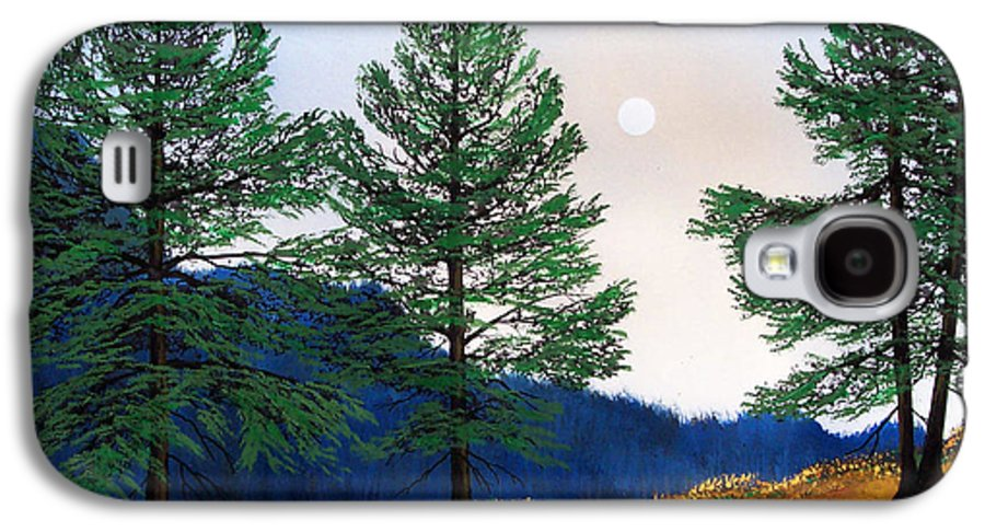 Galaxy S4 Case featuring the painting Mountain Pines by Frank Wilson
