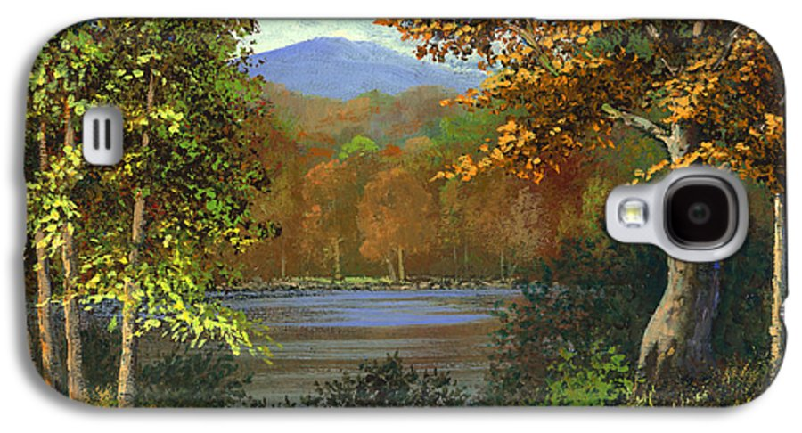 Landscape Galaxy S4 Case featuring the painting Mountain Pond by Frank Wilson