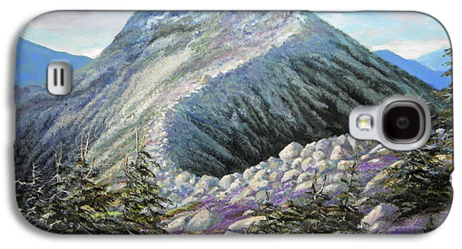 Landscape Galaxy S4 Case featuring the painting Mountain Ridge by Frank Wilson