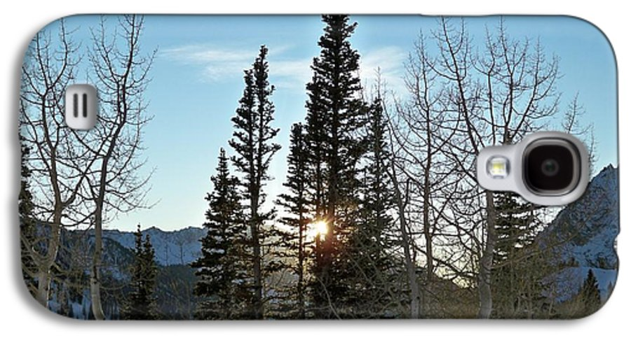 Rural Galaxy S4 Case featuring the photograph Mountain Sunset by Michael Cuozzo