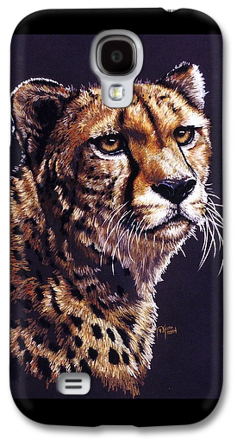Cheetah Galaxy S4 Case featuring the drawing Movin On by Barbara Keith