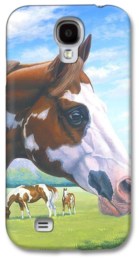 Paint Horse Galaxy S4 Case featuring the painting Mr. Norfleets Legacy by Howard Dubois