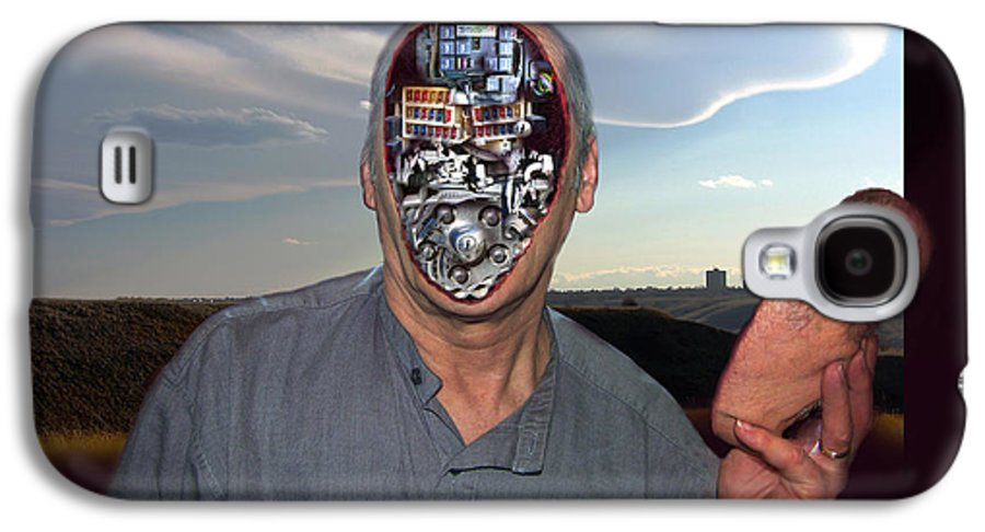 Surrealism Galaxy S4 Case featuring the digital art Mr. Robot-otto by Otto Rapp