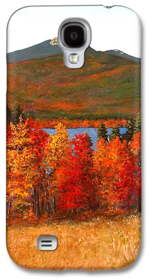 Mt Chocorua Galaxy S4 Case featuring the painting Mt.chocorua by Jack Skinner