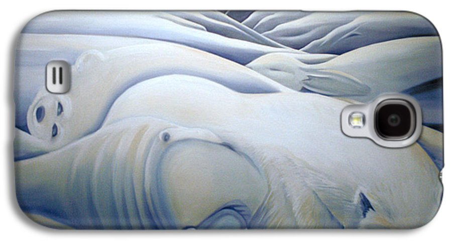 Mural Galaxy S4 Case featuring the painting Mural Winters Embracing Crevice by Nancy Griswold