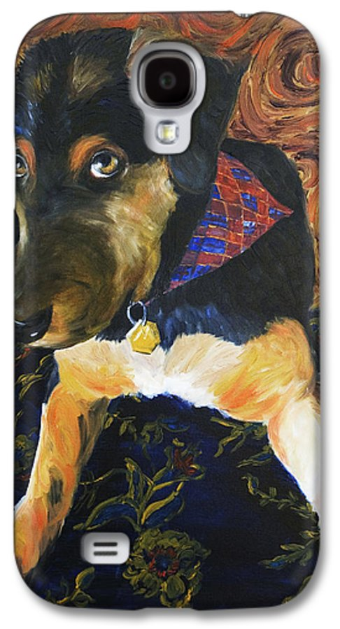 Dog Galaxy S4 Case featuring the painting Murphy I by Nik Helbig