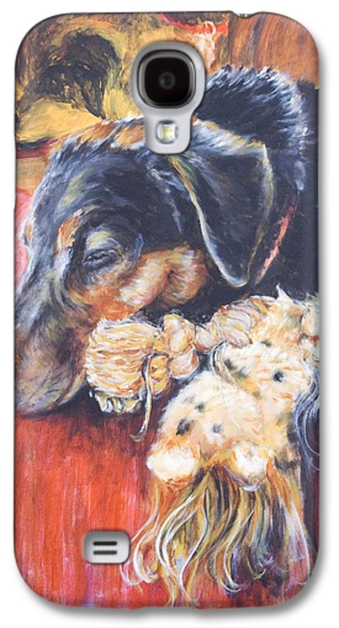 Dog Galaxy S4 Case featuring the painting Murphy Viii by Nik Helbig