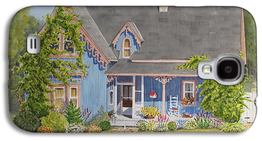 House Galaxy S4 Case featuring the painting My Blue Heaven by Mary Ellen Mueller Legault