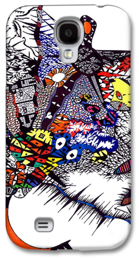 Feelings Galaxy S4 Case featuring the painting My Feelings by Safak Tulga