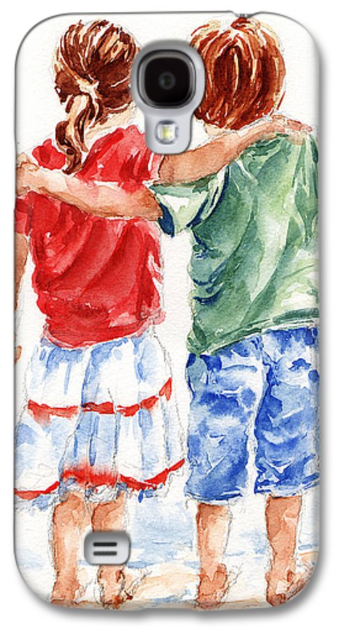 Watercolour Galaxy S4 Case featuring the painting My Friend by Stephie Butler