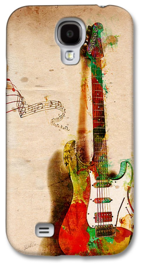 Guitar Galaxy S4 Case featuring the digital art My Guitar Can Sing by Nikki Smith