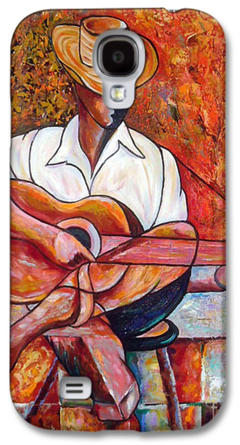 Cuba Art Galaxy S4 Case featuring the painting My Guitar by Jose Manuel Abraham