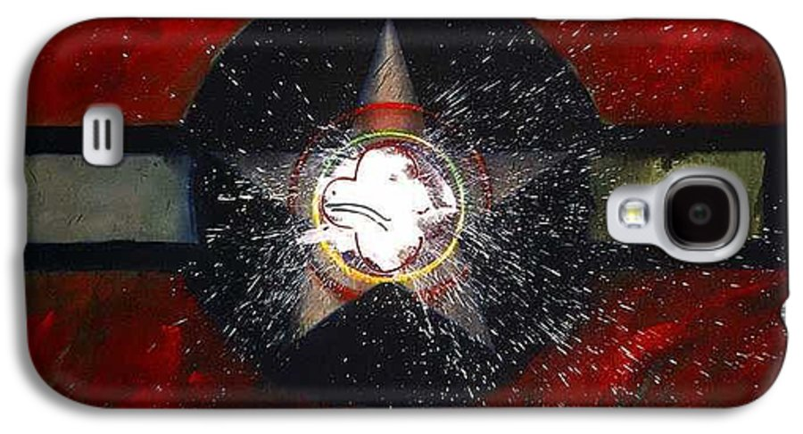 Usaaf Insignia Galaxy S4 Case featuring the painting My Indian Red by Charles Stuart