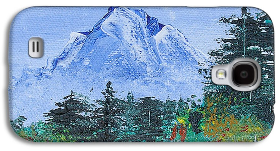 Nature Galaxy S4 Case featuring the painting My Mountain Wonder by Jera Sky