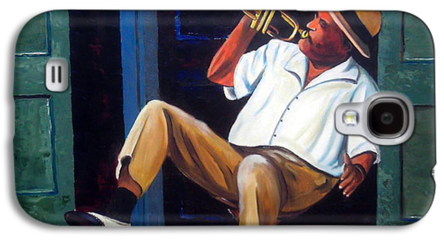 Cuba Art Galaxy S4 Case featuring the painting My Trumpet by Jose Manuel Abraham