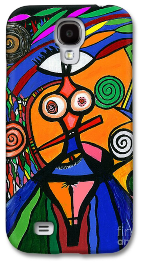 Feelings Galaxy S4 Case featuring the painting My Woman by Safak Tulga