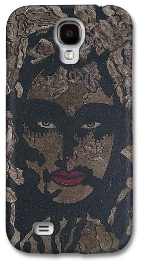 Figurative Galaxy S4 Case featuring the painting Mysterious Desire by Natalie Holland