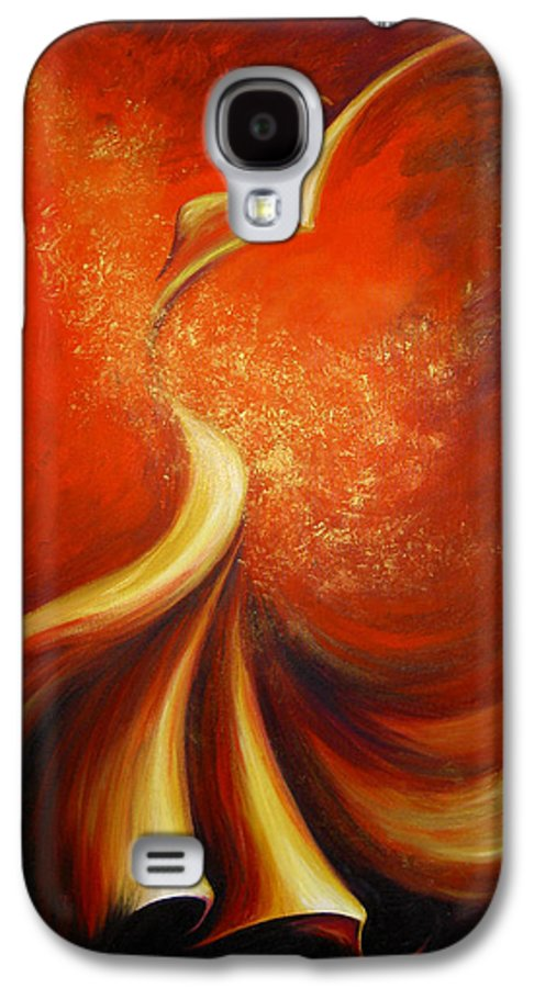 Figure Study Galaxy S4 Case featuring the painting Mystery Dance by Dina Dargo