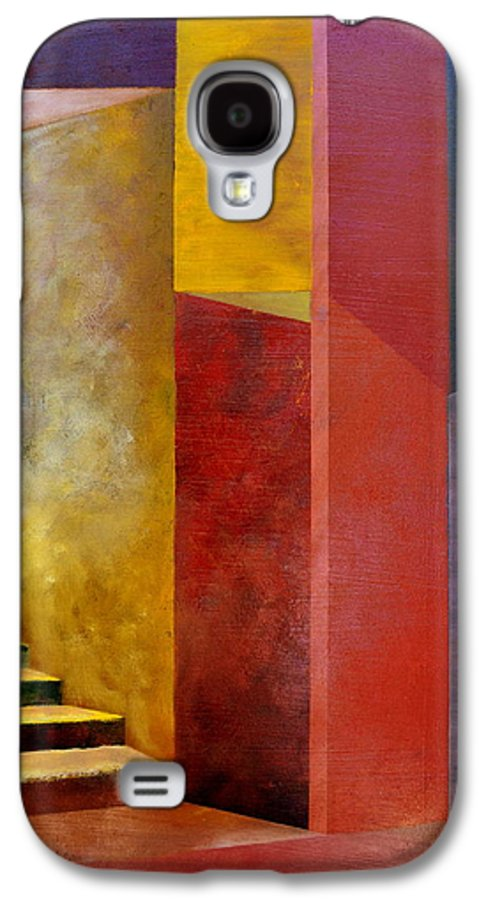 Gold Galaxy S4 Case featuring the painting Mystery Stairway by Michelle Calkins