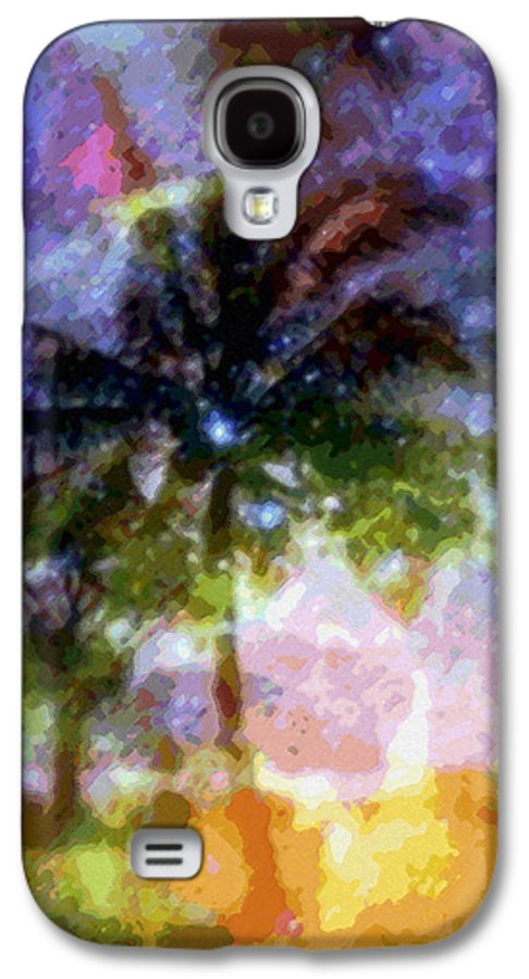 Tropical Interior Design Galaxy S4 Case featuring the photograph Mystic Palm by Kenneth Grzesik