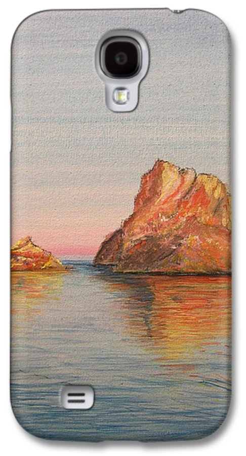 Island Galaxy S4 Case featuring the painting Mystical Island Es Vedra by Lizzy Forrester