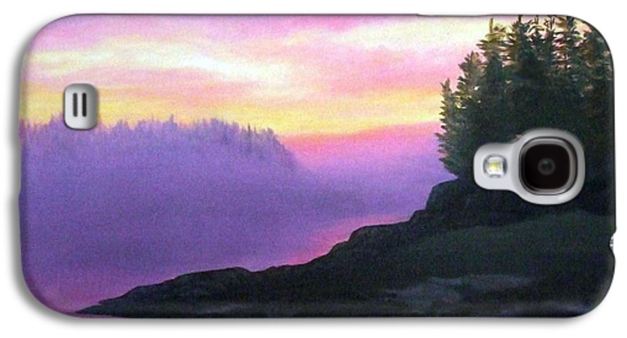 Sunset Galaxy S4 Case featuring the painting Mystical Sunset by Sharon E Allen