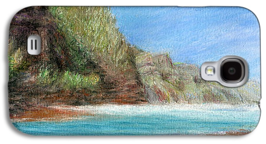Rainbow Colors Pastel Galaxy S4 Case featuring the painting Na Pali by Kenneth Grzesik