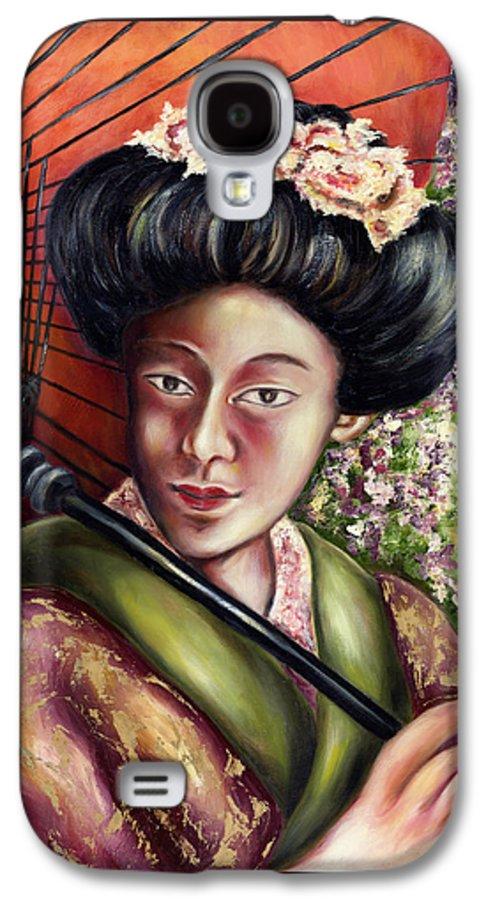 Japanese Galaxy S4 Case featuring the painting Nadeshiko by Hiroko Sakai