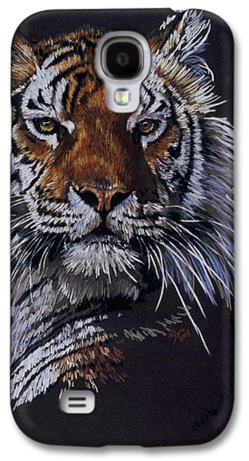 Tiger Galaxy S4 Case featuring the drawing Nakita by Barbara Keith