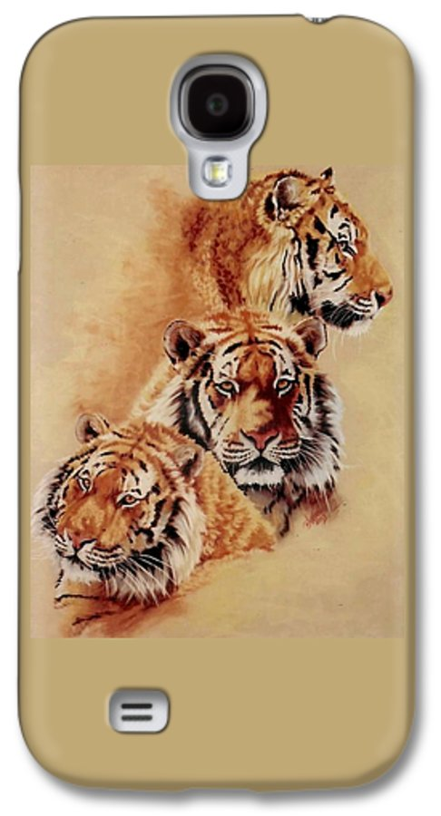Tiger Galaxy S4 Case featuring the pastel Nanook by Barbara Keith