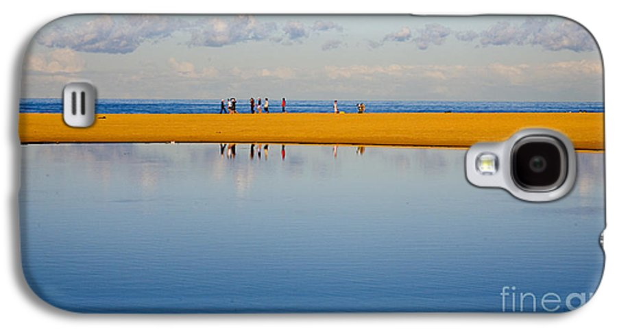 Dunes Lowry Sand Sky Reflection Sun Lifestyle Narrabeen Australia Galaxy S4 Case featuring the photograph Narrabeen Dunes by Sheila Smart Fine Art Photography