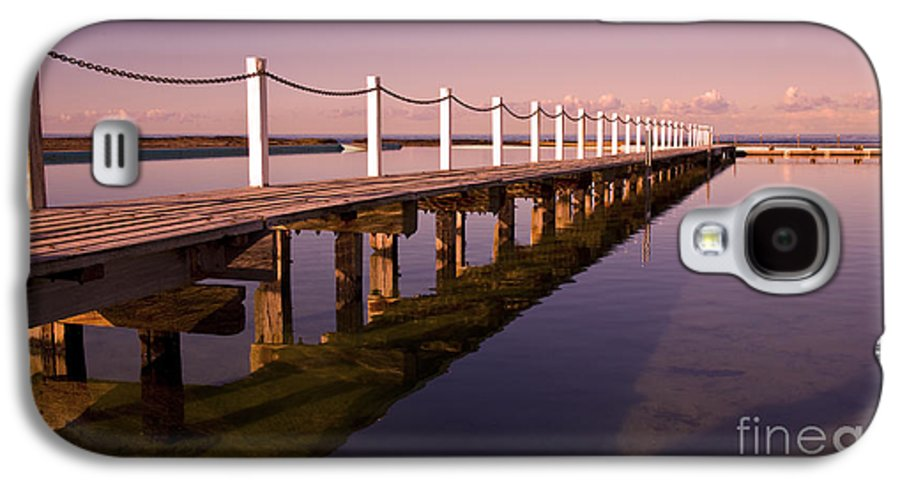 Narrabeen Sydney Sunrise Wharf Walkway Galaxy S4 Case featuring the photograph Narrabeen Sunrise by Sheila Smart Fine Art Photography