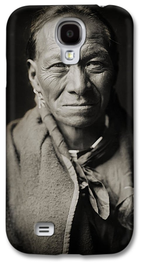 Edward Curtis Galaxy S4 Case featuring the photograph Native American Taos Indian White Clay by Jennifer Rondinelli Reilly - Fine Art Photography