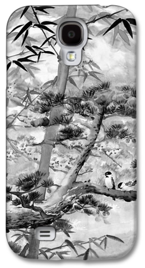 Black And White Galaxy S4 Case featuring the painting Nature by Eileen Fong